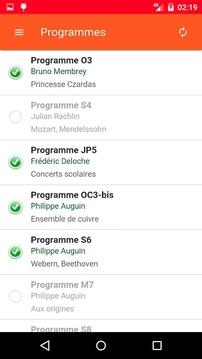 Planning d'orchestre