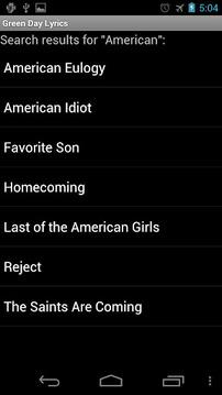 Green Day Lyrics