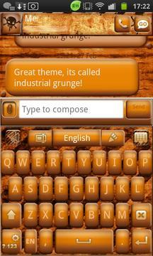 Go Keyboard Industrial Grunge