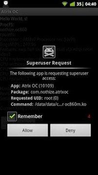 Atrix OC alpha test(NEED ROOT)