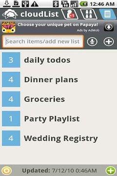 cloudList - 杂货店/ TODO列表
