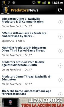 Predators News