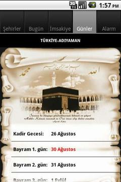 Ramazan imsakiyesi