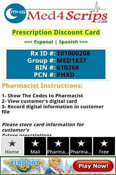 Free Prescription Rx Card