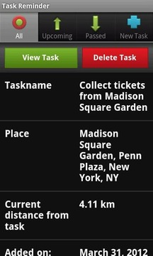 Location Based Task Reminder