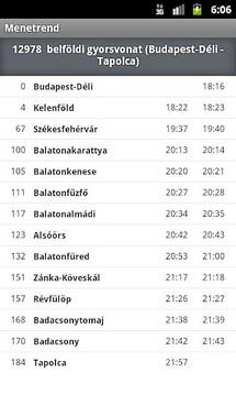 AZ Menetrend - MÁV