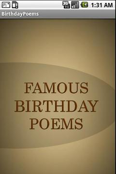 Birthday Poems