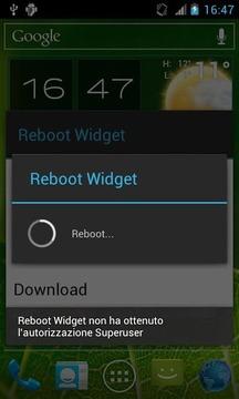 Reboot Widget for Root User