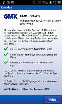 GMX Kontakte