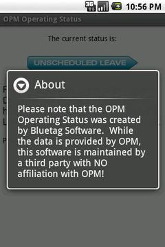 OPM Operating Status
