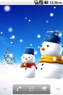 雪人动态壁纸