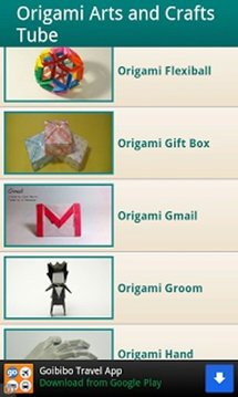 Origami Arts and Crafts Tube