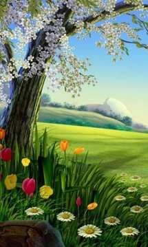 Cartoon Nature Free Live Wallpaper