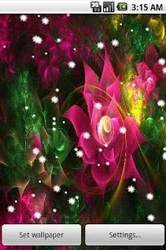 4D Flower Live Wallpaper