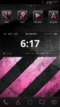 greyPINK HD Launcher Theme