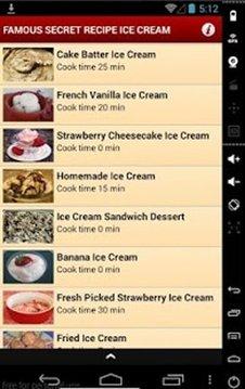 Famous Secret Recipe Ice Cream