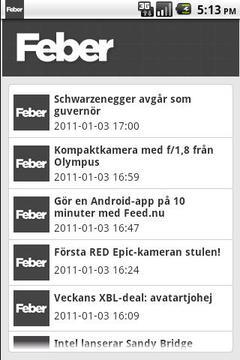 Feber RSS Reader