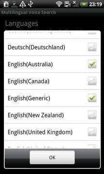 会多种语言的语音搜索