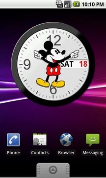 Mickey Mouse Analog Clock with Date