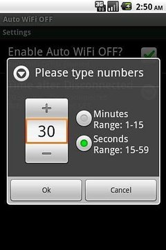 Auto WiFi OFF