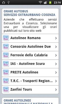 Transport Timetables in Italy
