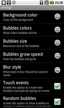 Sweet bubbles - Live wallpaper