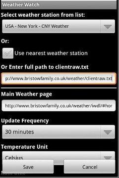 Weather Watch Widget - Demo