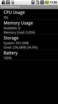SystemMonitor系统监视器V1.5(Android1.5+)