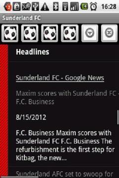 Sunderland FC News 2012