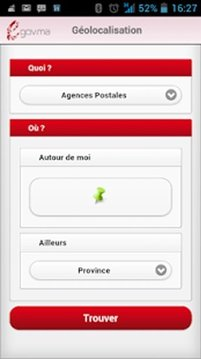 Géolocalisation e-gov Maroc