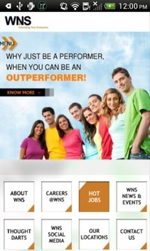 WNS Careers on Mobile