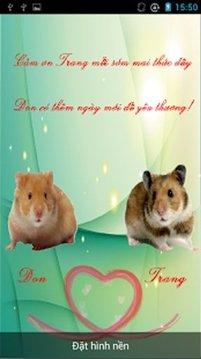 Ghep Chu Hamster Hinh nen dong
