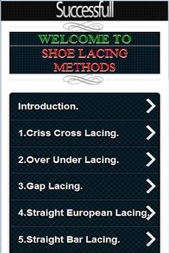 Shoe Lacing Methods