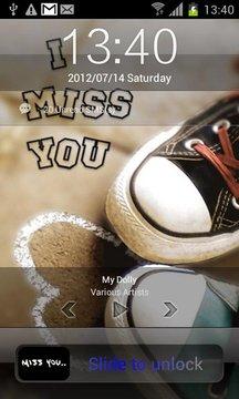 Miss you lock screen