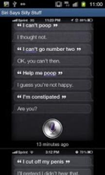Siri Says Silly Stuff