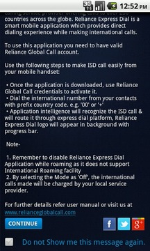 Reliance Express Dial
