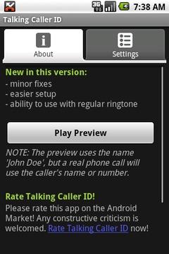 Talking Caller ID (free)