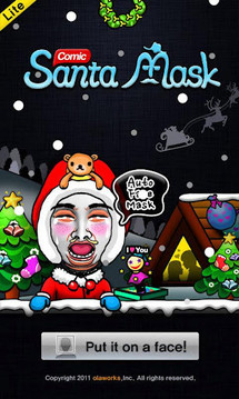 Comic Santa Mask Lite