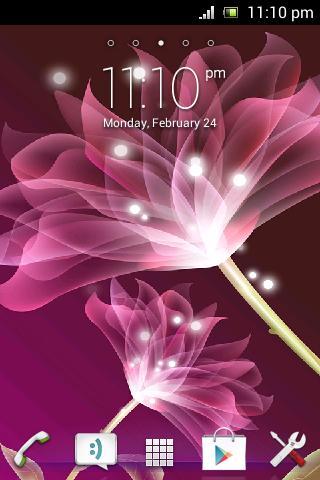 粉红色的莲花动态壁纸下载