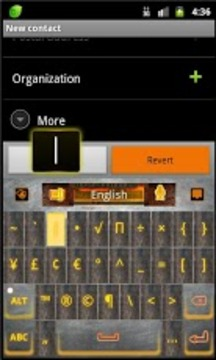 GO Keyboard Industrial theme