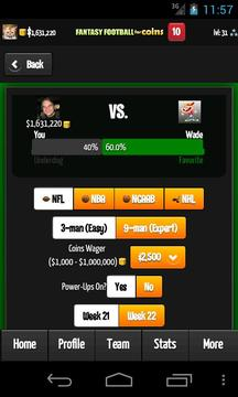 Fantasy Football for Coins