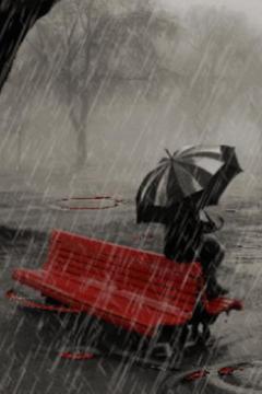Rain In Winter Live Wallpaper