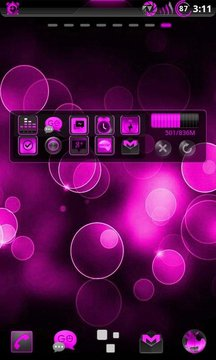 GOWidget Theme AdeaPink-Free