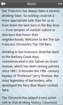 Top 100 Bars, SF Chronicle