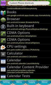 Custom Phone shortcuts
