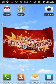 Thanksgiving Flag Live Wallpaper