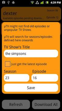 µTV Free - TV Torrents Grabber