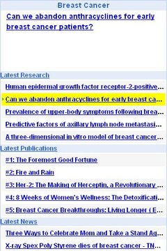 Breast Cancer Updates
