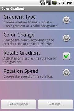 Color Gradient Live Wallpaper