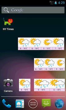 Korea Weather Widget